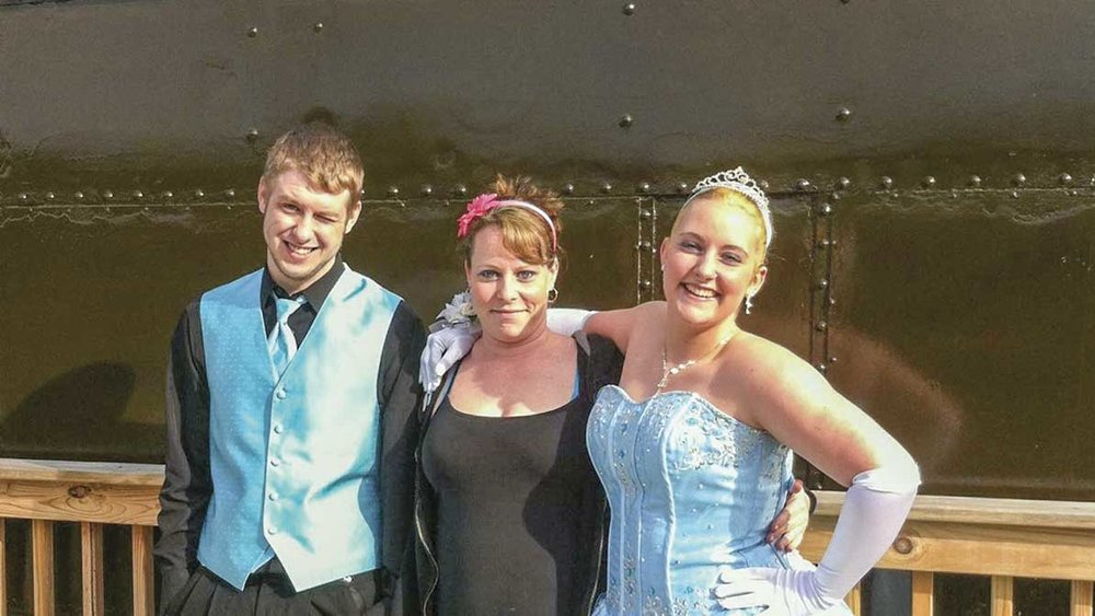 Pictured center is Jolene Bowman with her daughter Sommer, right, and Sommer's prom date. (Photo provided)