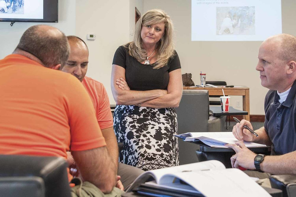 KCCRB Executive Director Deborah Arnold listens during a recent KYLEAP training. Arnold said the law enforcement culture is unique and lends itself best to peer support. (Photo by Jim Robertson)