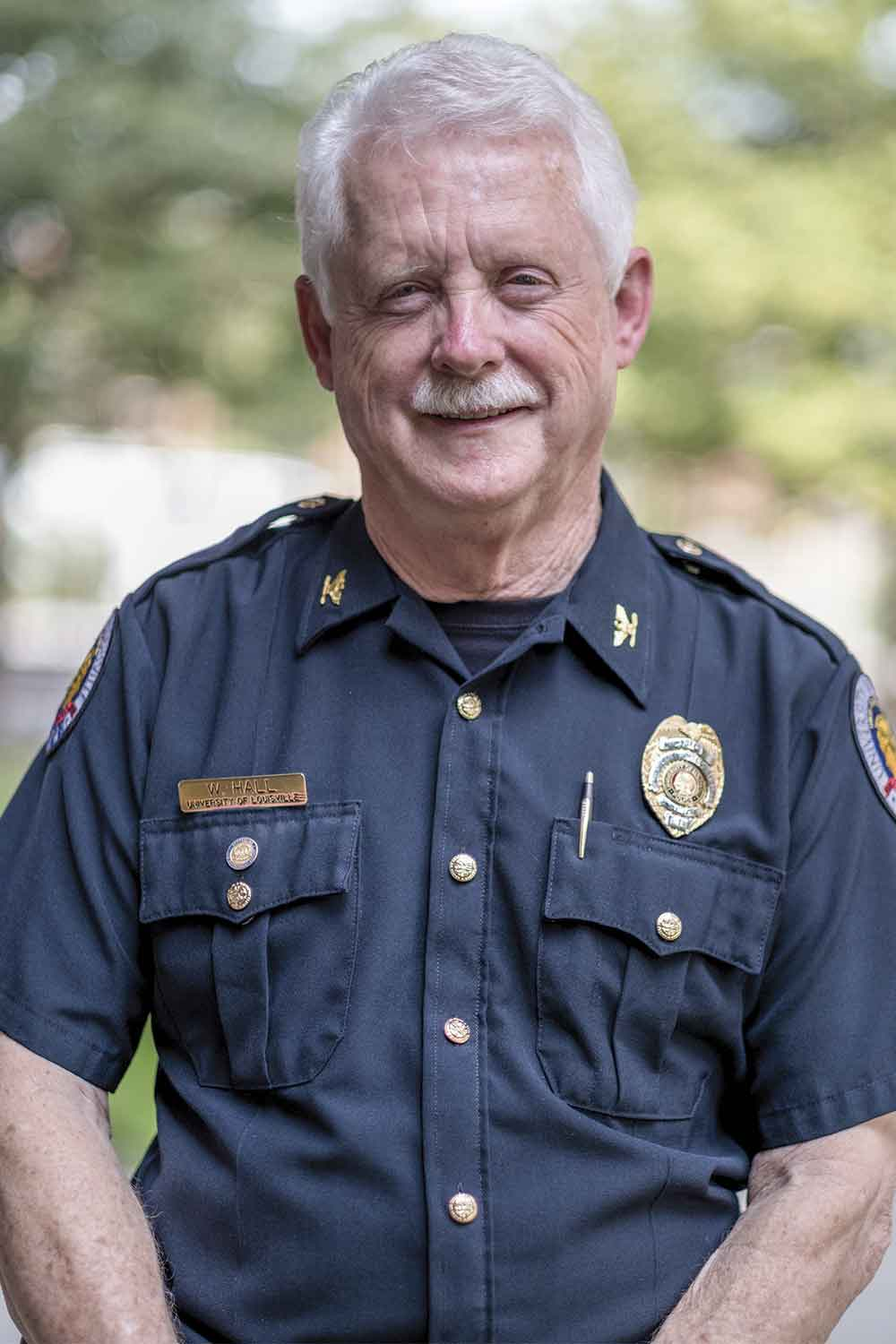 Chief Wayne Hall has served the University of Louisville Police Department for 25 years. He and his staff are responsible for serving a campus of approximately 30,000 students, faculty, staff and visitors every day. (Photo by Jim Robertson)