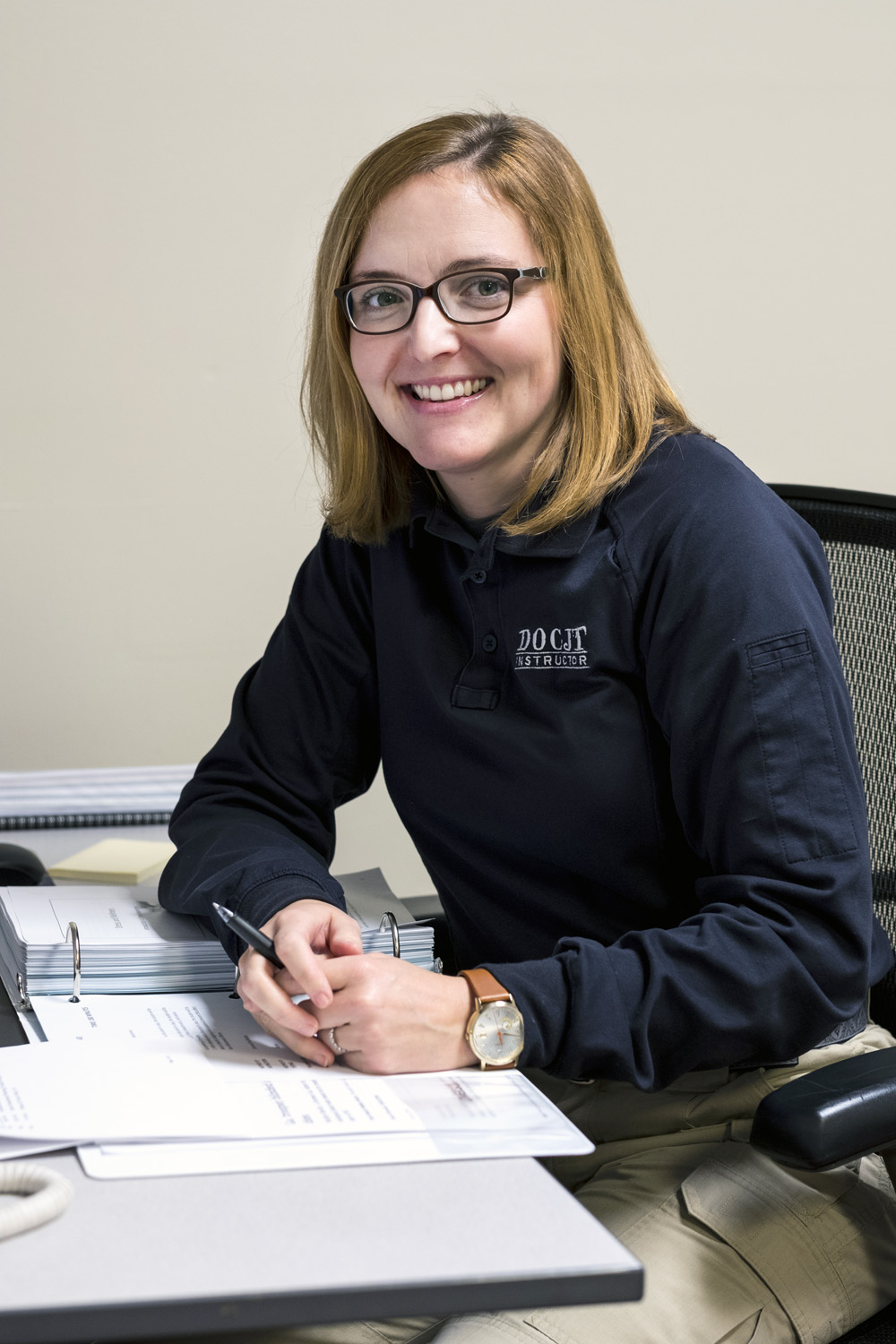 Instructor Sarah Tackett recently transferred to the Louisville Training Section to round out the office's new staff.