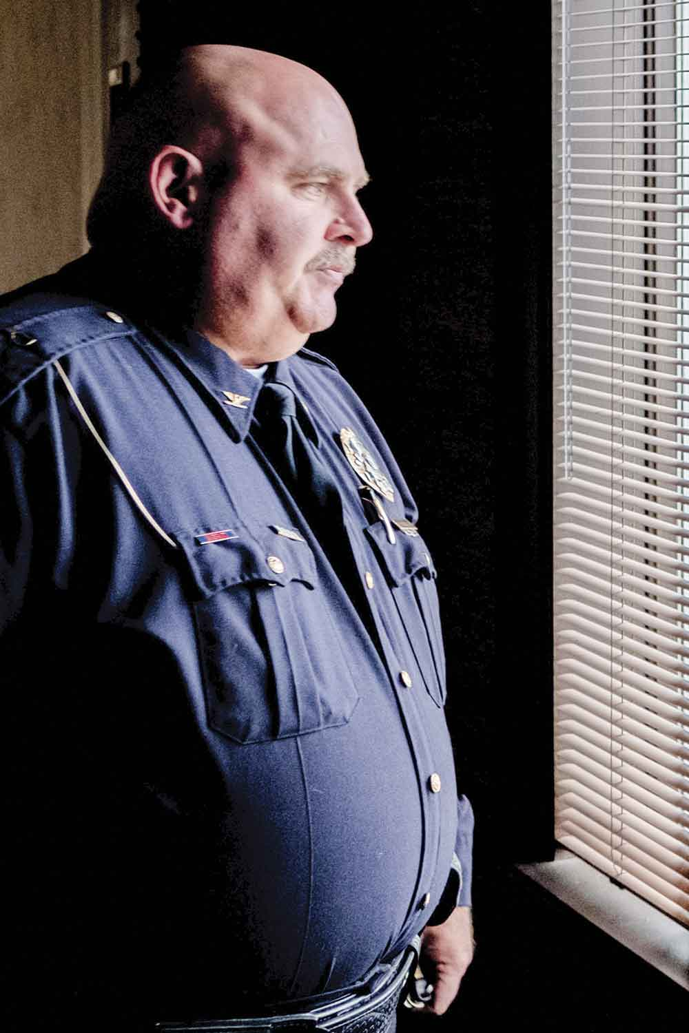 Mount Sterling Police Chief David Charles  set high expectations when he took over the department in 2011. Having served MSPD for 26 years, he is passionate about the community he serves and the men and women serving in his ranks. (Photo by Jim Robertson)