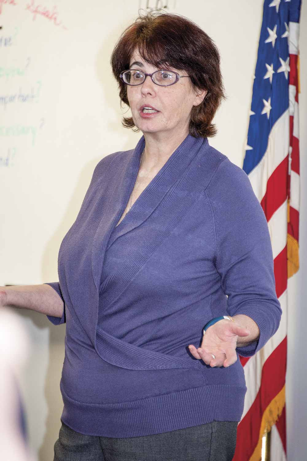 Shawn Herron has been a legal instructor at DOCJT since 1999. Her favorite topics to teach and discuss are anything related to the Fourth Amendment and search and seizure. (Photo by Jim Robertson)