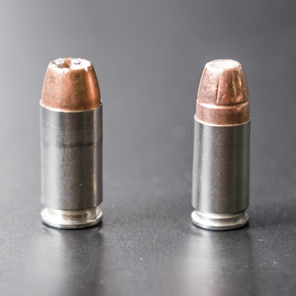 .40-caliber bullet shown on the left.