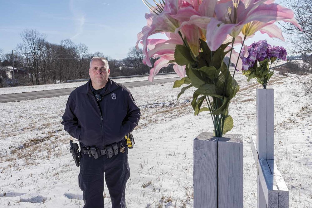 Nicholasville Assistant Police Chief Chris Cain said as a result of the June 2014 critical incident involving a two-vehicle wreck which claimed the lives of six people, including three children, the agency began putting together a mental-health policy for its officers. (Photo by Jim Robertson)