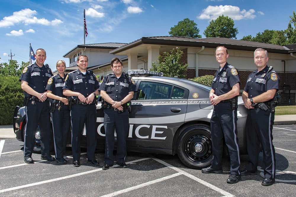 Thirteen officers comprise the Lakeside Park-Crestview Hills Police Department. While the staff might be small, there are numerous opportunities for special assignments and responsibilities that round out this agency. (Photo by Jim Robertson)
