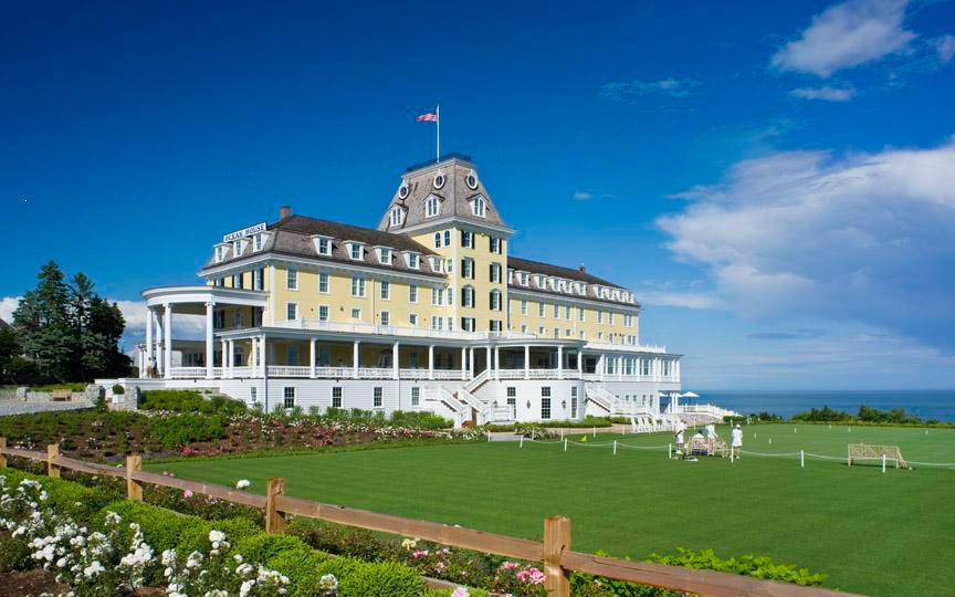 First opened in 1868, the warm yellow facade of the  Ocean House  has welcomed guests for nearly 140 years.