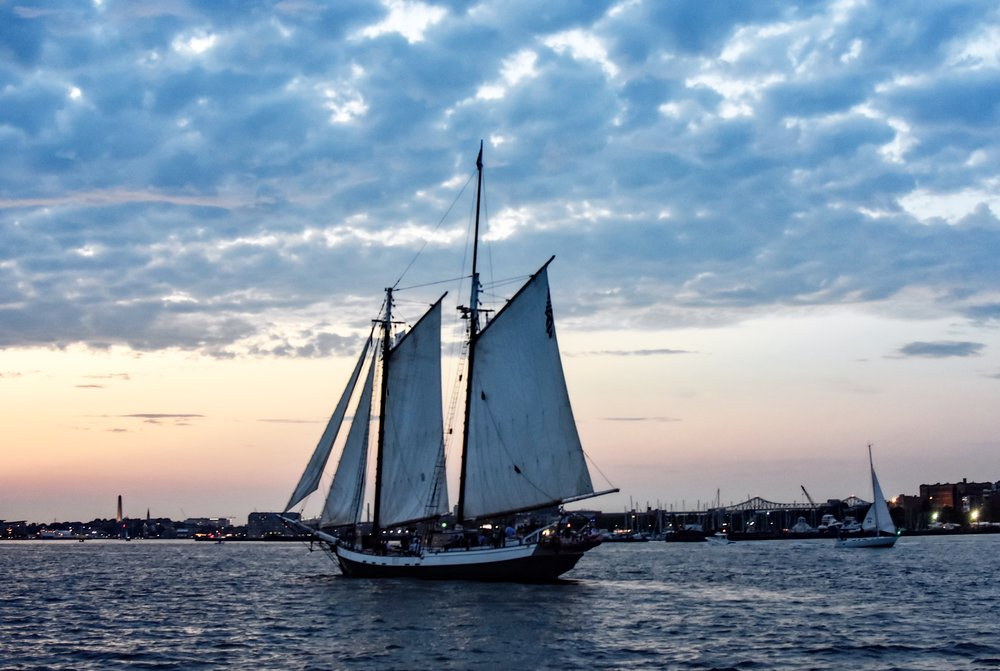 Built as a working replica of an 1890s coastal schooner, the 67 foot  Liberty Star  also offers a variety of sailing cruises on the Boston Harbor.