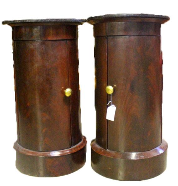 French Mahogany Round Cabinets
