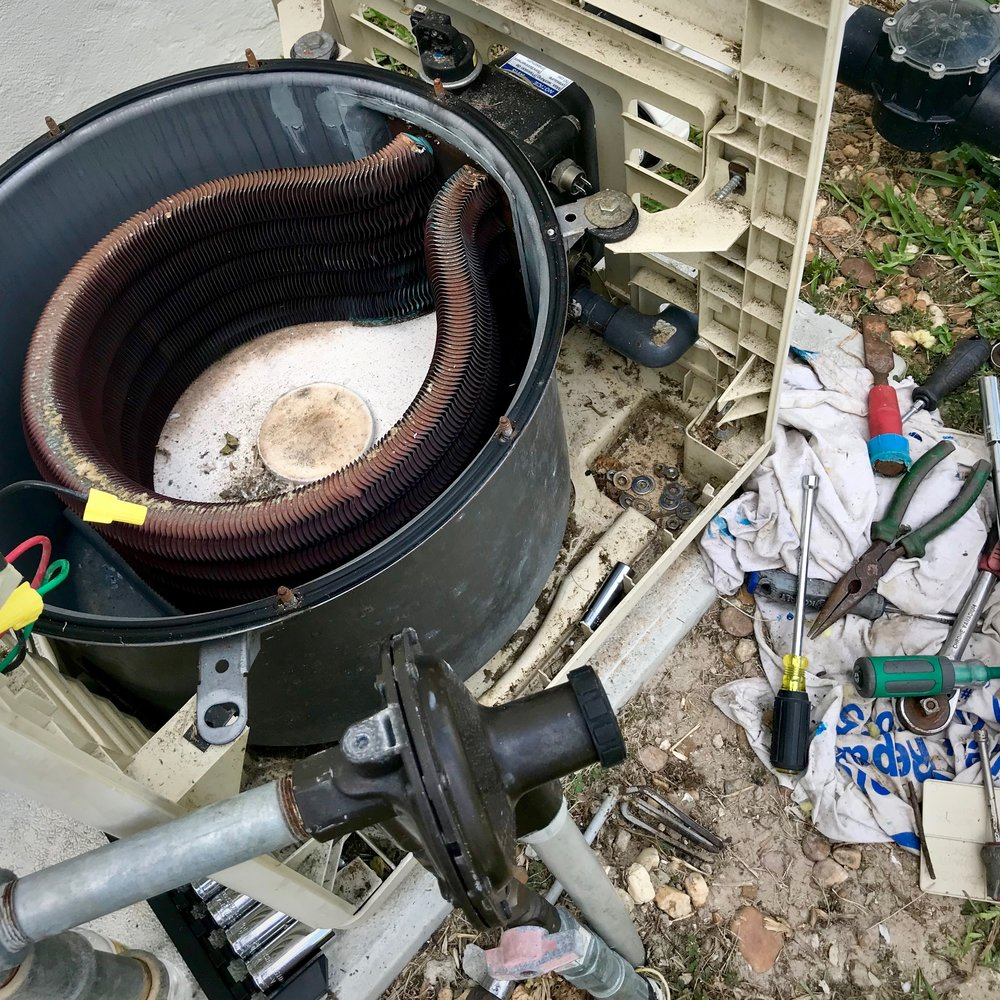 Swimming Pool Heaters - Leaks and error codes to clunking and cycling. We have extensive knowledge with all kinds of pool heaters and are considered pool heater specialists by others companies in the industry, which is a title we will gladly accept.