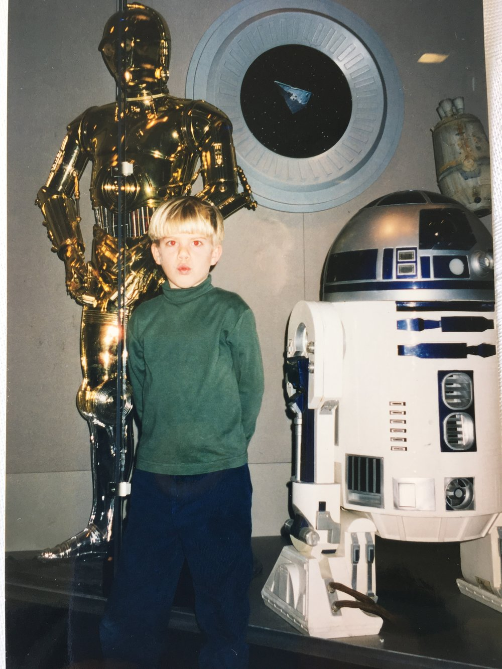 Little DJ Step visiting the Stars Wars Exhibit at the Smithsonian Air and Space Museum in Washington DC circa 1997