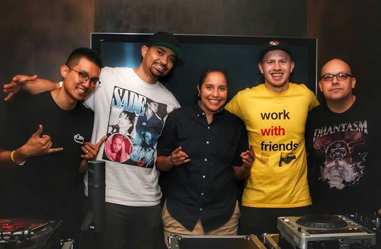 DJs who qualified from the preliminary round (L to R): RTST, Archi, Sandra Suave, Step, Rampage Photo by  Marvin Alexander