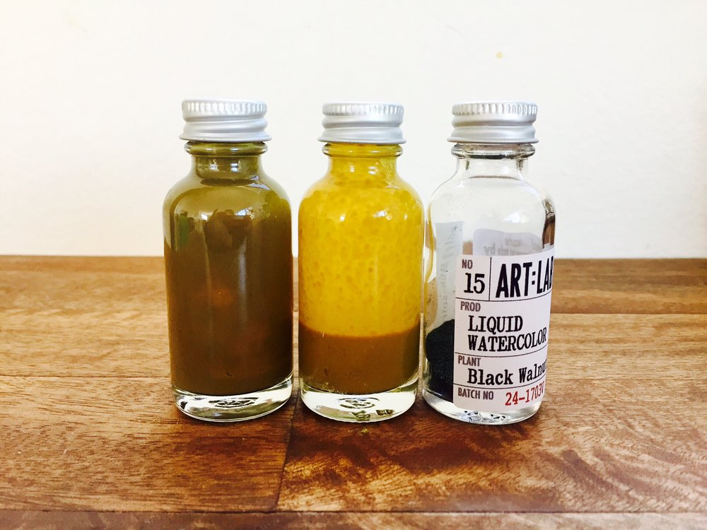 Liquid Watercolor: Dyer's Palette [ Goldenrod, Rhubarb, Black Walnut, Madder Root ]
