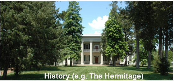President Andrew Jackson called The Hermitage home from 1792 to 1796. There are several tours and exhibits available on the plantation grounds year round.