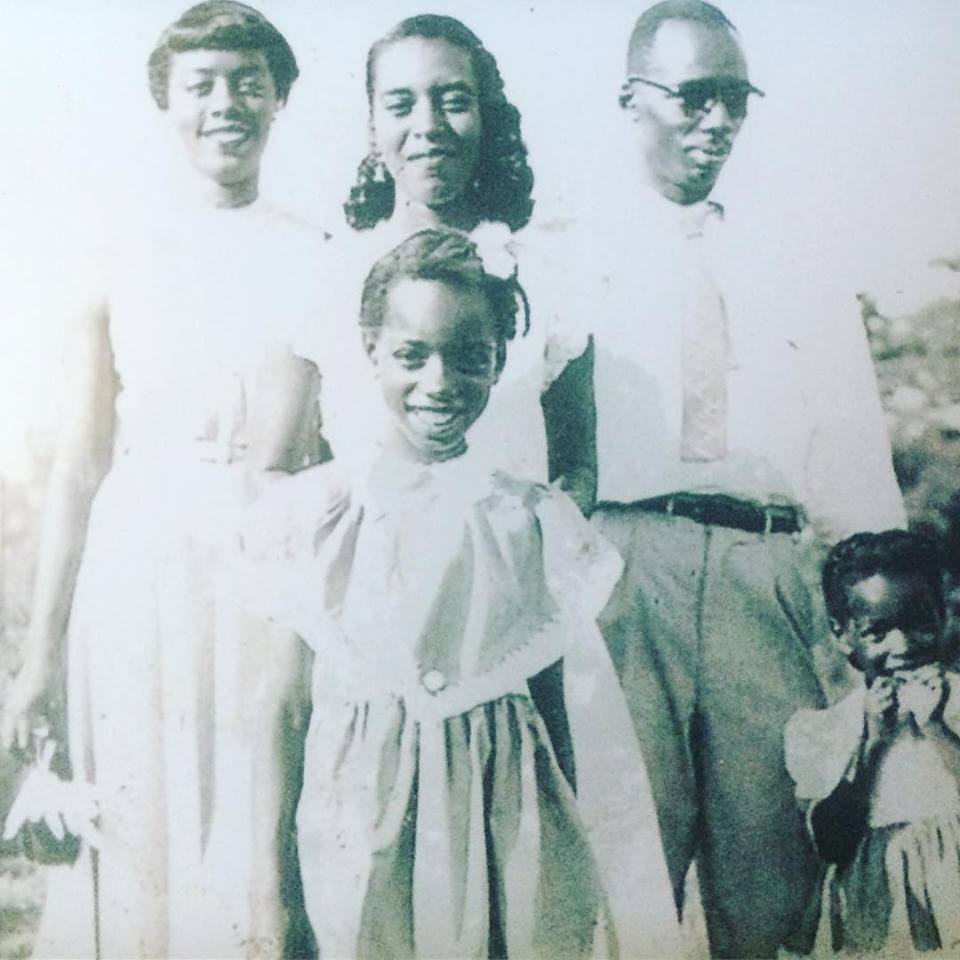 My grandmother (center), great-aunts, and great-uncle.