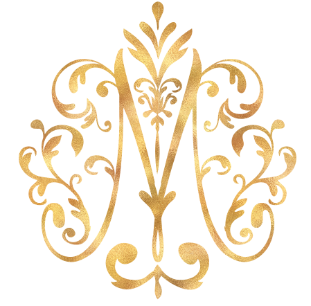 Mary's Mark Photography Gold Logo Transparent Background