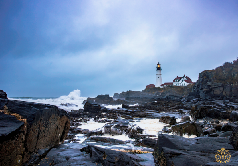 Portland, Maine   I arrived in Portland during a 'Nor-Easter' which included high winds, ferocious waves, and a lot of rain. Mother Nature's intense backdrop provided a unique photography opportunity to capture the lighthouse.