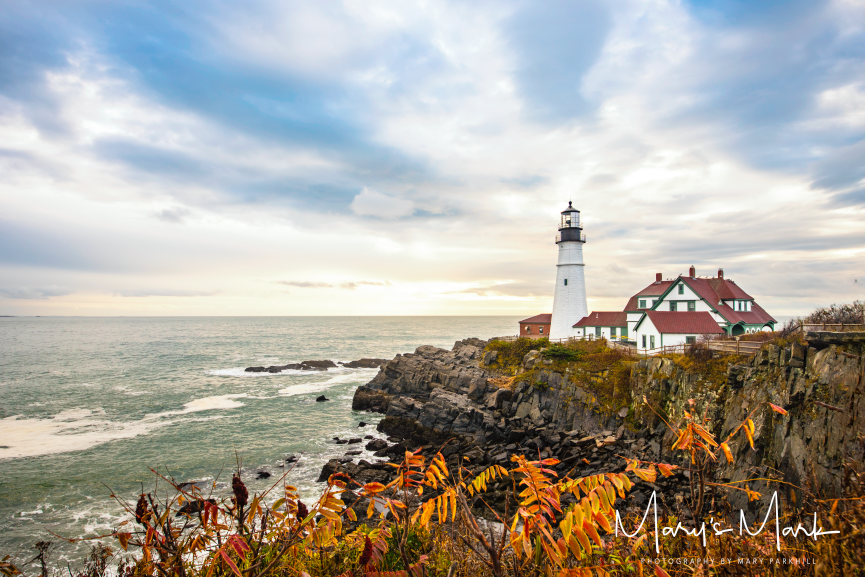 Fall Foilage Lighthouse Portland Maine by Mary Parkhill Mary's Mark Photography.png