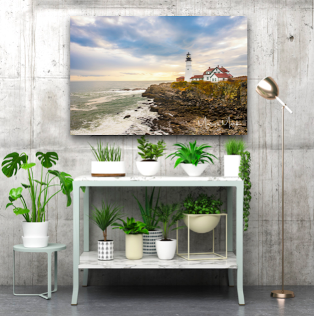 Large Artwork Lighthouse Landscape on Acrylic and Canvas in Portland Maine by Mary's Mark Photography Mary Parkhill.png