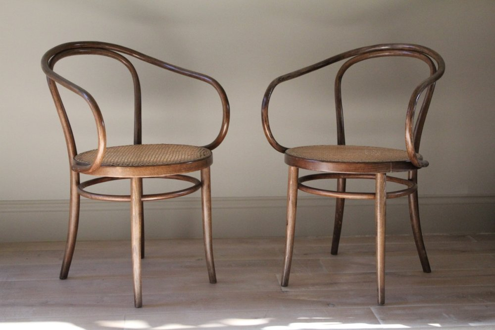Pair of Thonet Style Bentwood Chairs & Pair of Thonet Style Bentwood Chairs u2014 Lonika Chande