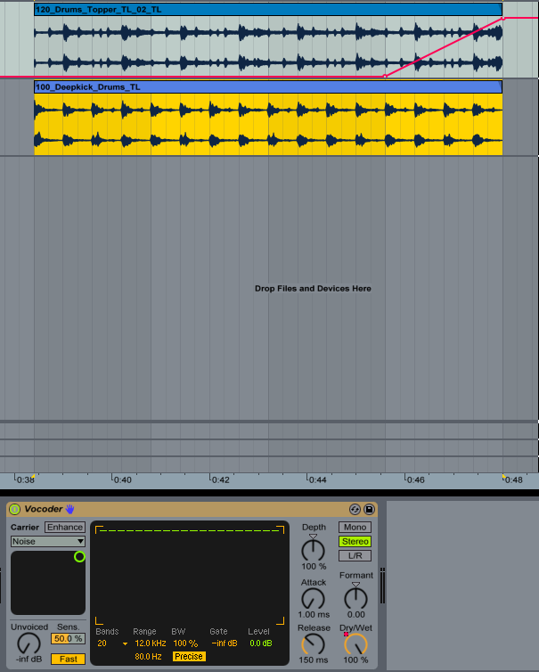 Noise Risers made easy with the Vocoder in Ableton
