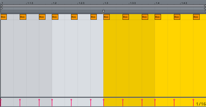 Trigger Track Containing Our New Trigger Pattern