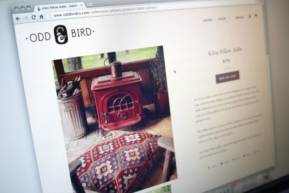 Oddbirdco.com - Product detail page