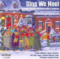A Stable-lamp is Lighted TTBB Chorus Washington Men's Camerata Frank Allbinder, conductor Sing We Noel, Gothic Records, 2001