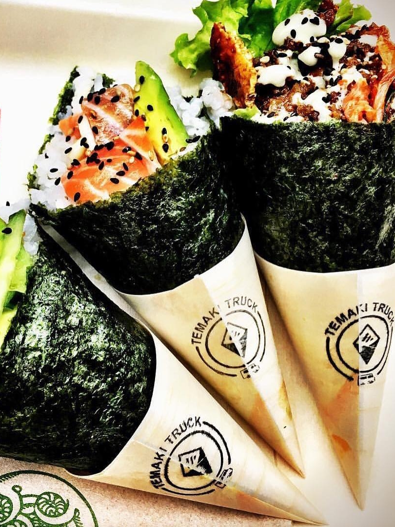 TEMAKI TRUCK - Temaki is a cone shaped, hand rolled sushi filled with fresh and seasonal ingredients