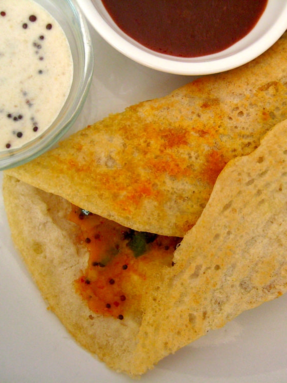 MASALA DOSA - Tasty and filling Masala Dosa that is loaded with potato and spices!