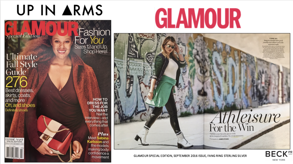 UP IN ARMS X GLAMOUR FULL PAGE FEATURE SEPTEMBER ISSUE NO STATS.png