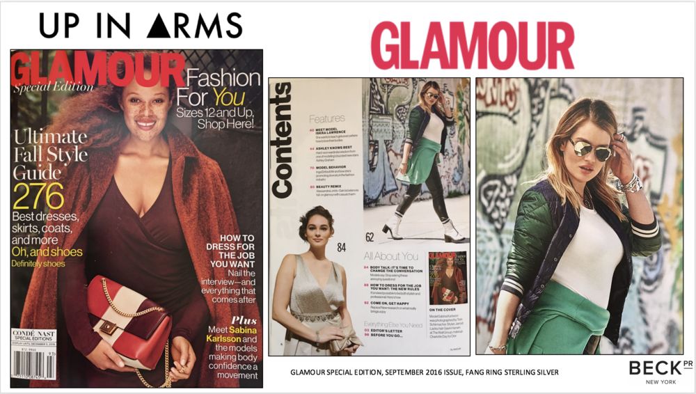 UP IN ARMS X GLAMOUR SEPTEMBER ISSUE TABLE OF CONTENTS NO STATS.png