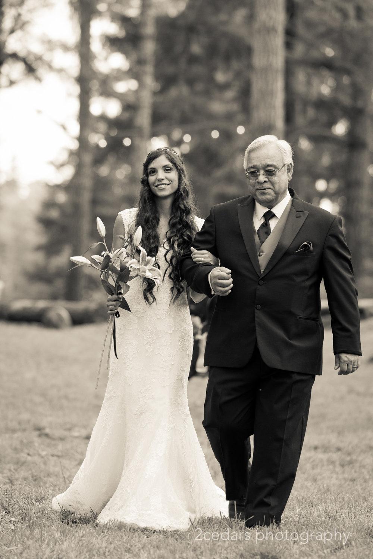black and white bride at Grand Farms wedding venue, Key Peninsula