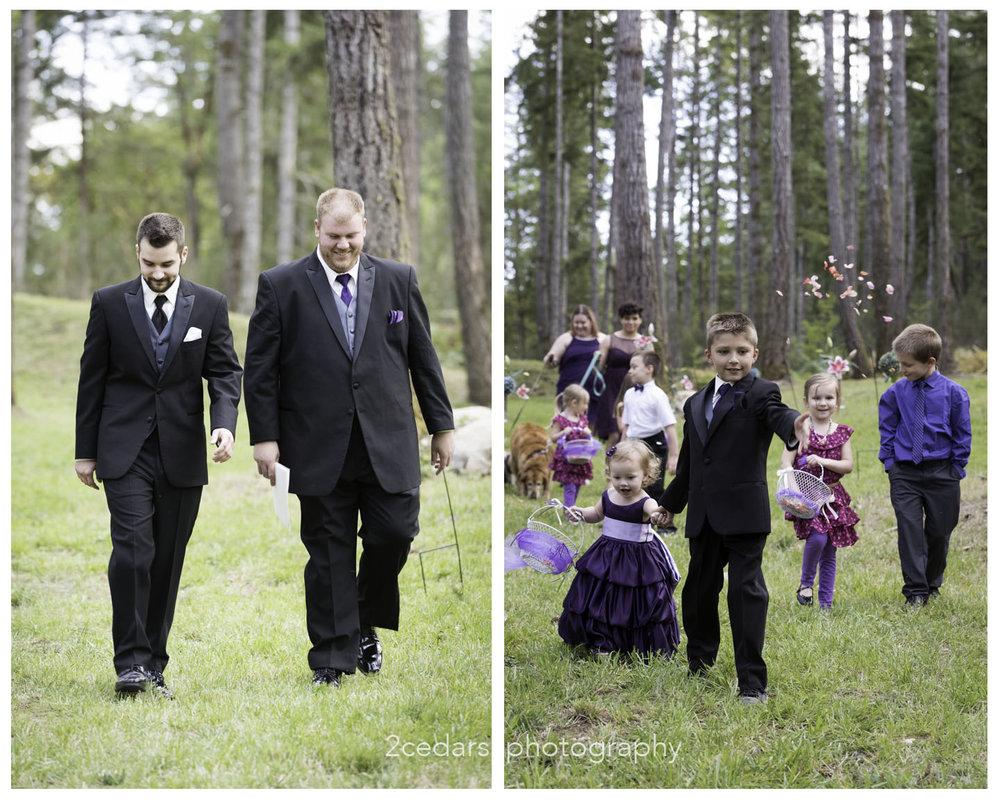 Outdoor wedding at Grand Farms, Vaughn, WA