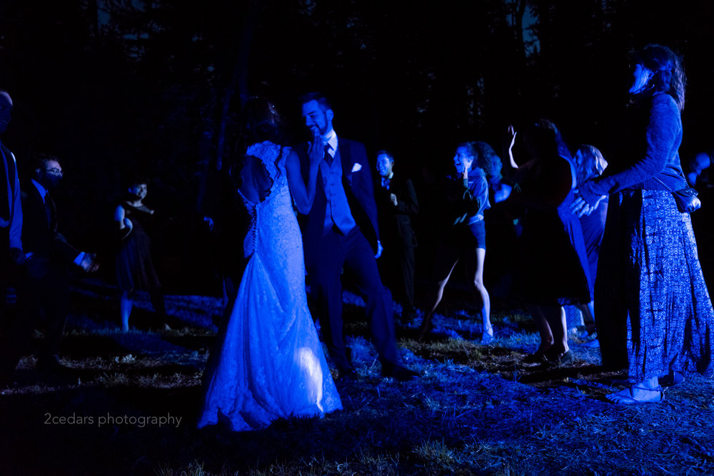 Blue light first wedding dance