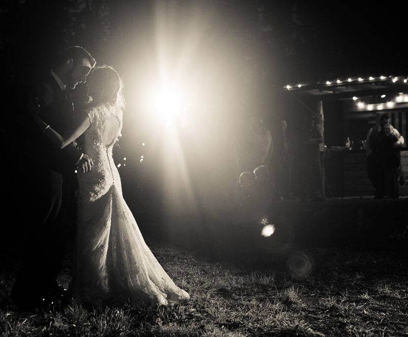 Copy of Wedding couple first dance light flare