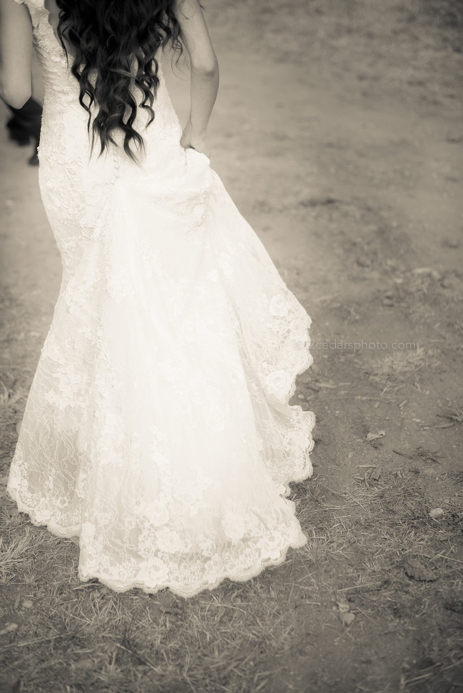 Copy of Bride wedding dress train