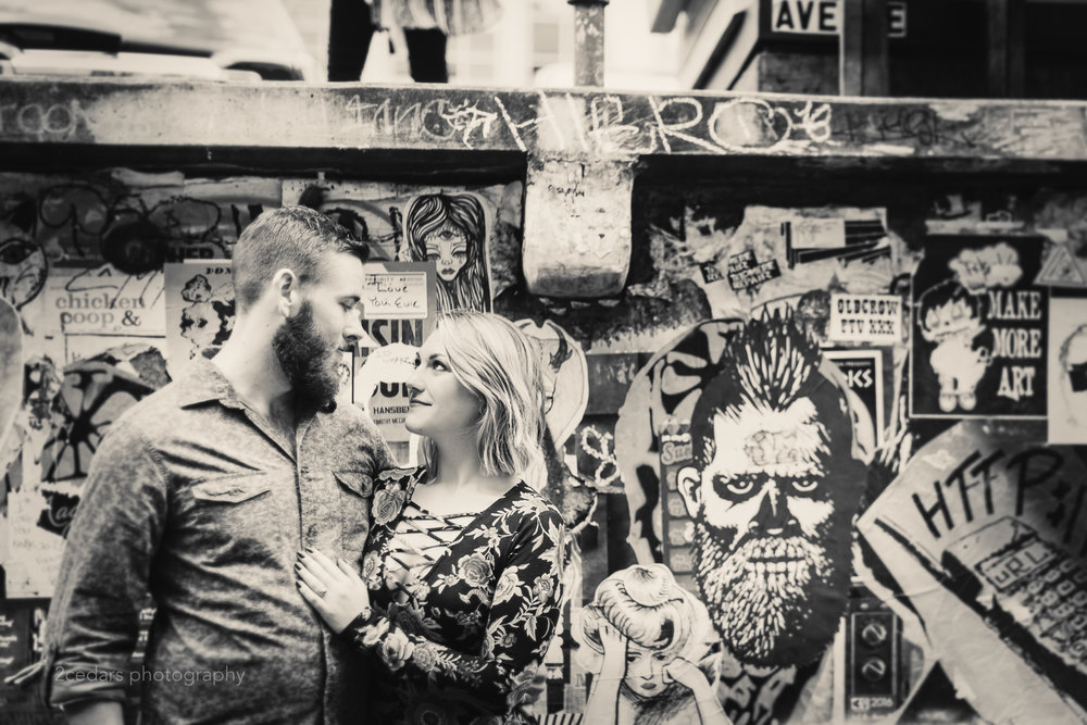Seattle-Downtown-Graffiti-Engagement-Photos