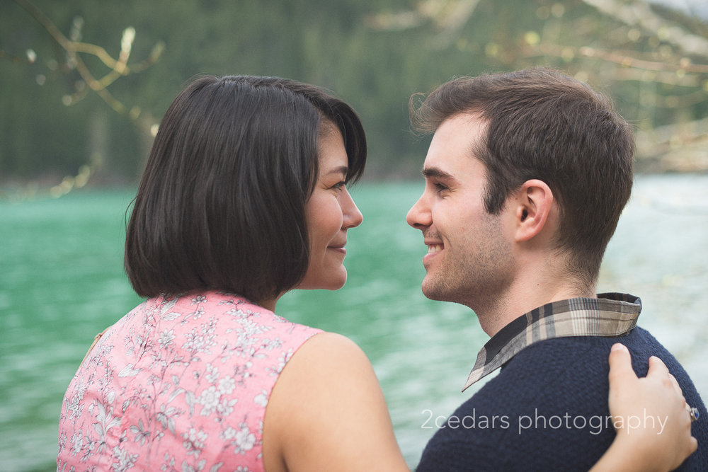 Rattlesnake Lake Engagement Photo
