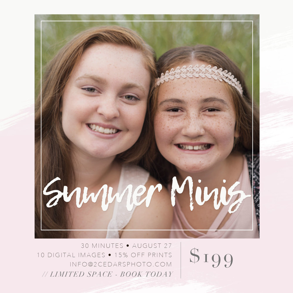 Tacoma mini portrait sessions $199 August 27 - Seattle/Tacoma Photographers - 2 Cedars Photography