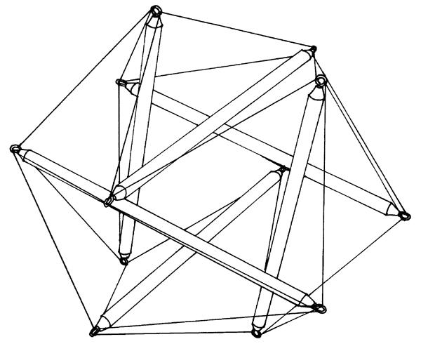 Tensegrity Icosahedron, Buckminster Fuller , 1949