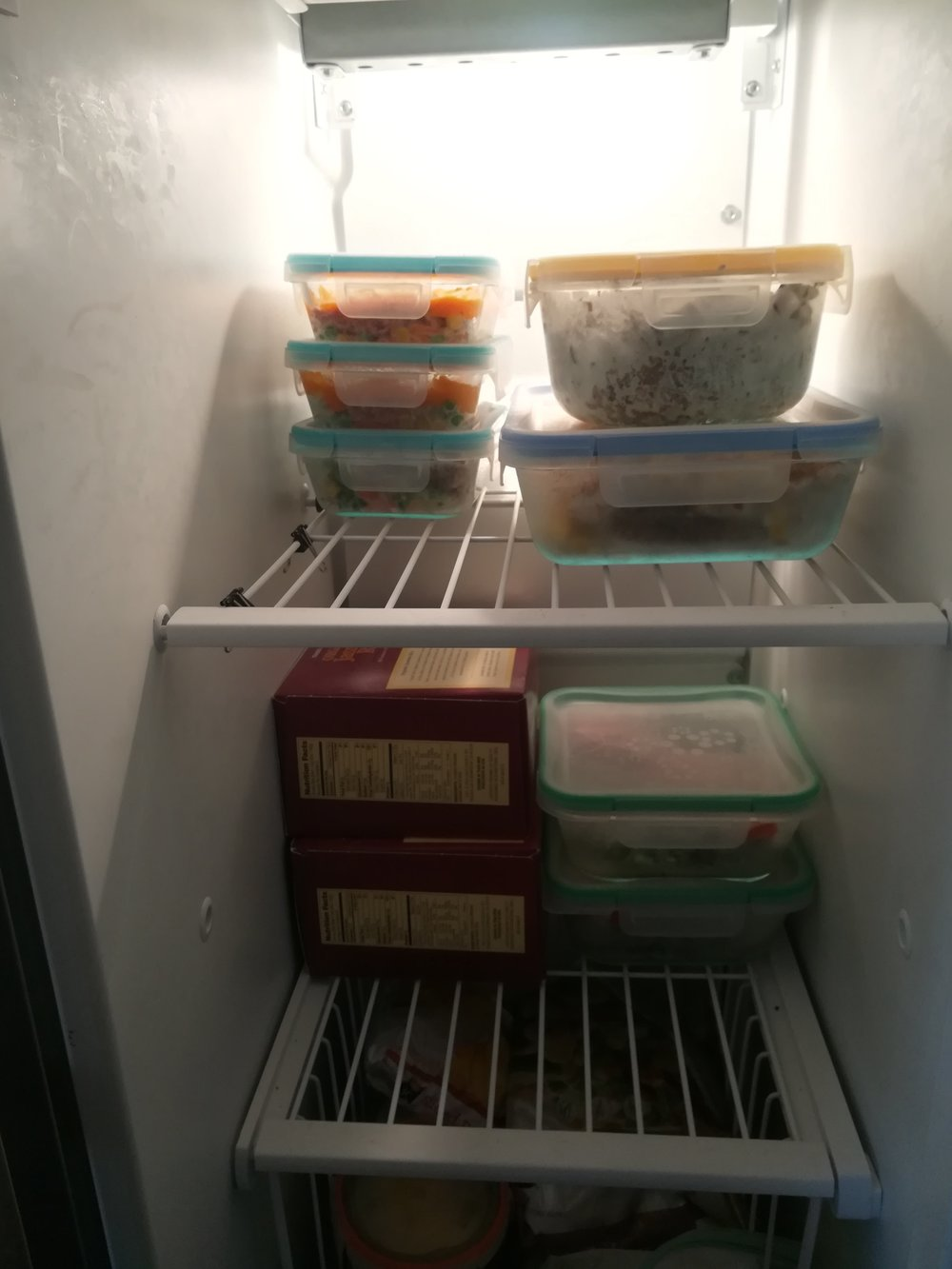 How does this look in our freezer? We have a few special meals, and it's easy to grab-and-go.