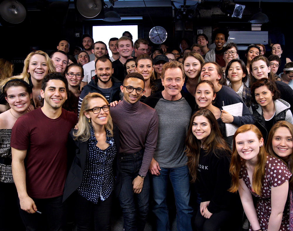 Bryan Cranston visits with the Spring 2017 Stonestreeters.