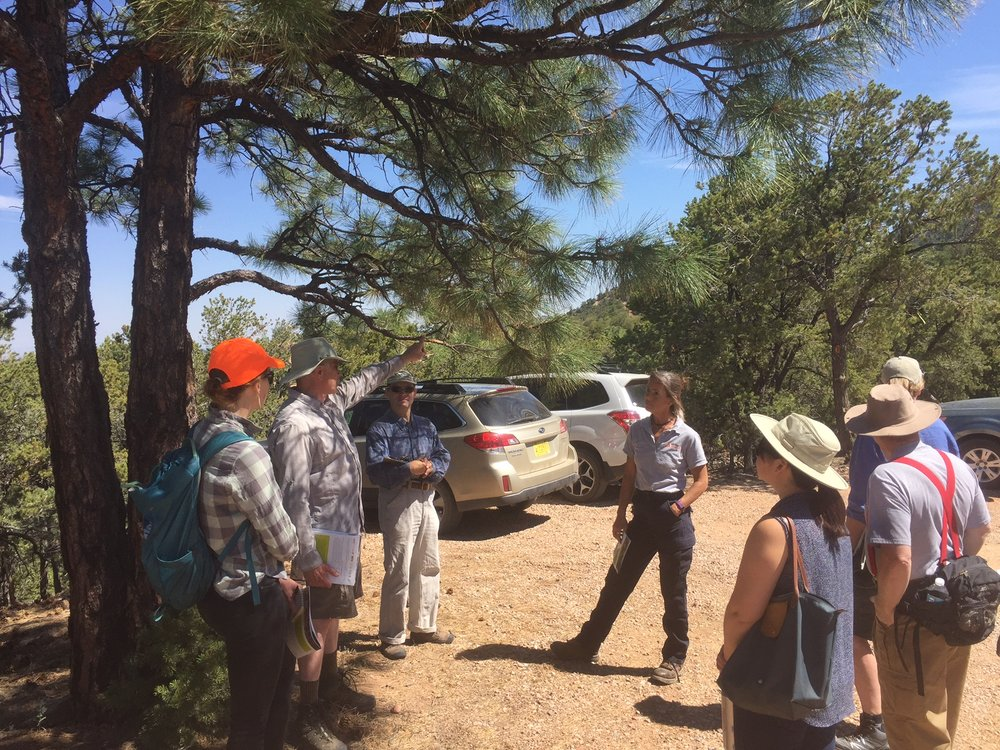 A neighborhood meeting in Wilderness heights to educate the neighbors on what they can do to reduce the fire danger in Wilderness Heights.