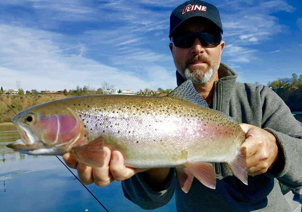 Sacramento River fishing guide, Jeff Goodwin with a nice steelhead!