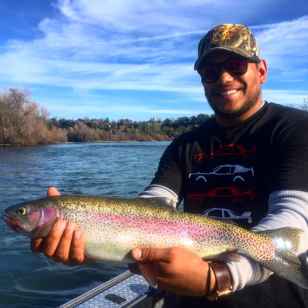 Ralph Camacho of Corona, Ca. with his first ever steelhead.