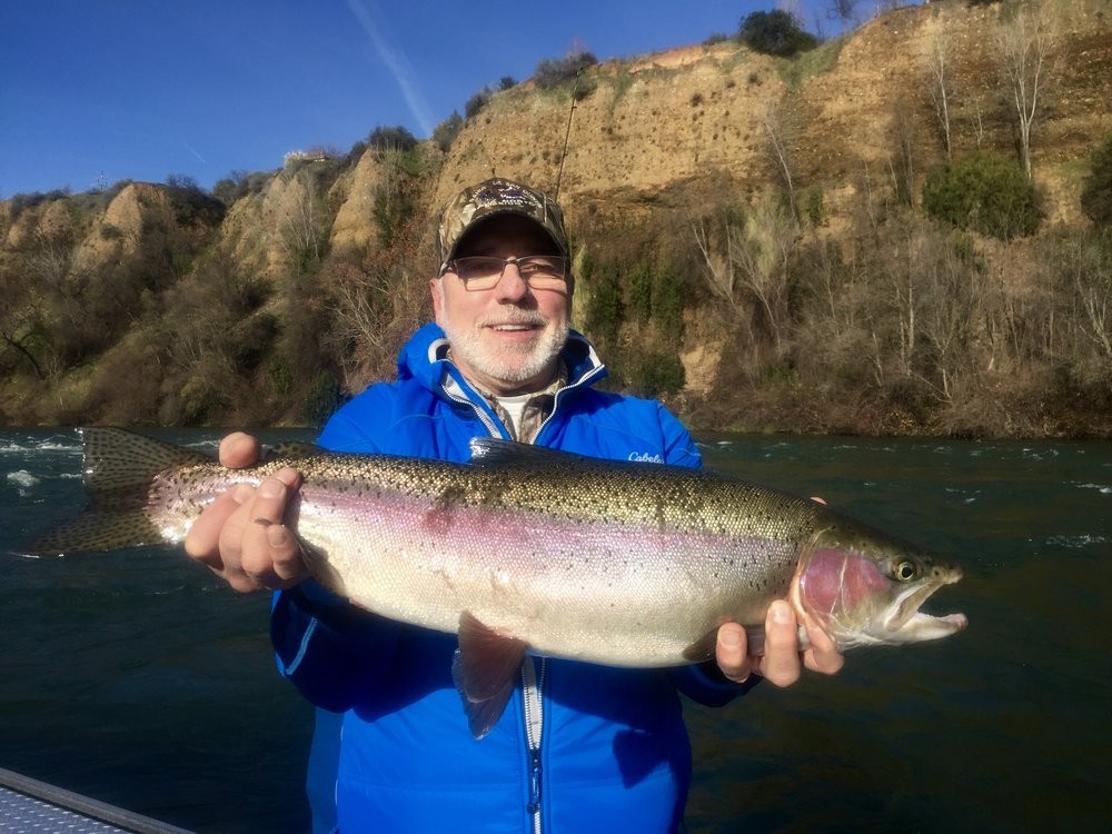Russ Holpuck of Redding, Ca. caught this 6.13 lb steelhead while back trolling Mag Lip plugs.