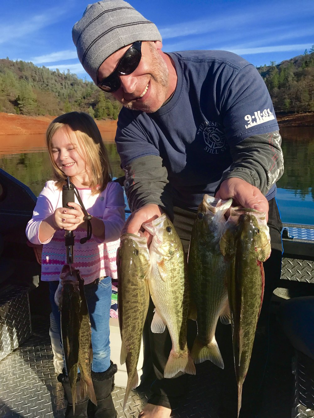 Gracie and Chuck with part of their 10 fish limit!