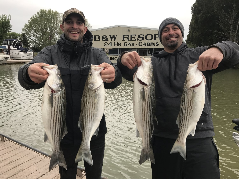 Striped bass fishing report 4/10 — Jeff Goodwin Fishing