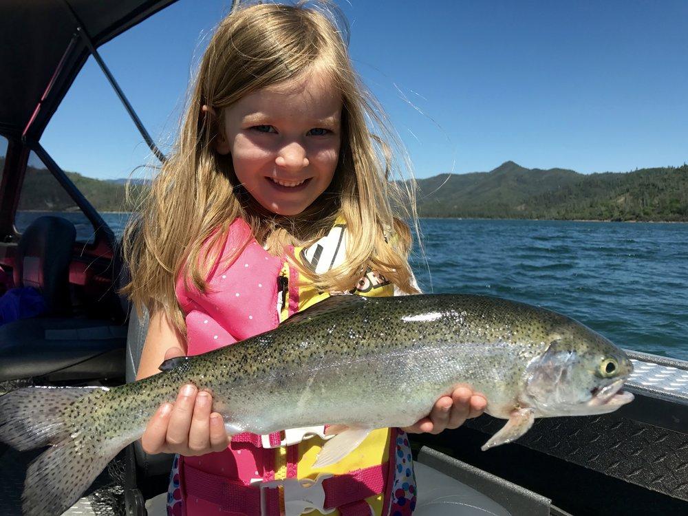"A bonus 20"" Whiskeytown Lake rainbow trout."