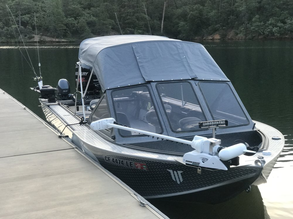 Our 24' Willie Boat is a great boat to fish from and our new top is really helping with the heat of the sun while on the water.